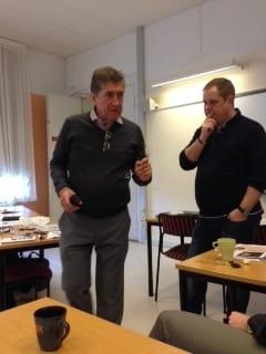 Martin Hellström från Multilens diskuterade med Krister Inde
