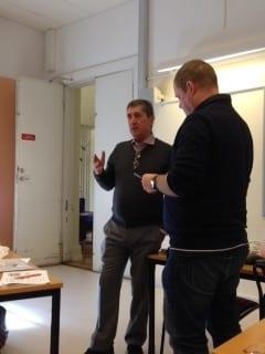 Martin Hellström från Multilens med Krister Inde