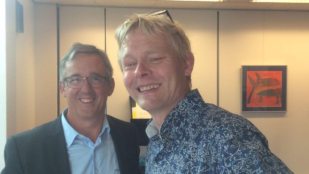 Johan Ekblad och dr Bart Melis Dankers
