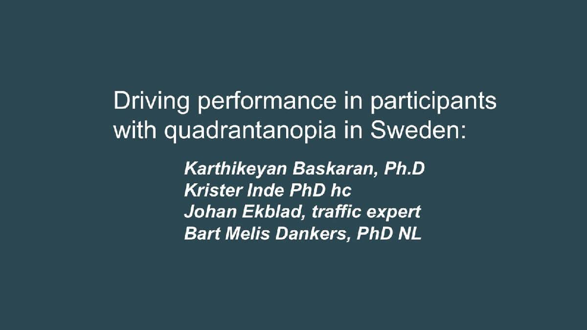 Presentation från föreläsning om körtest