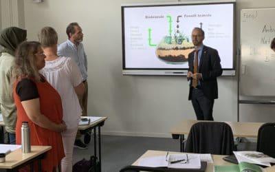 Infrastrukturministern besöker CTD-projektet